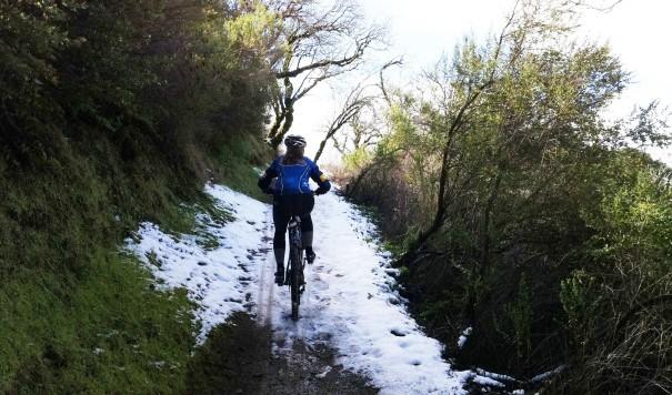 Snow on Bella Vista Trail