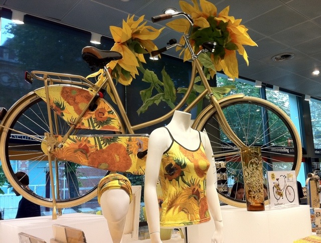 At the Van Gogh museum, you could buy one inspired by his Sunflowers painting.