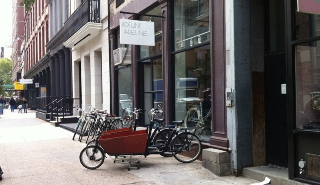 The cargo bike out front made it easy to find the shop.