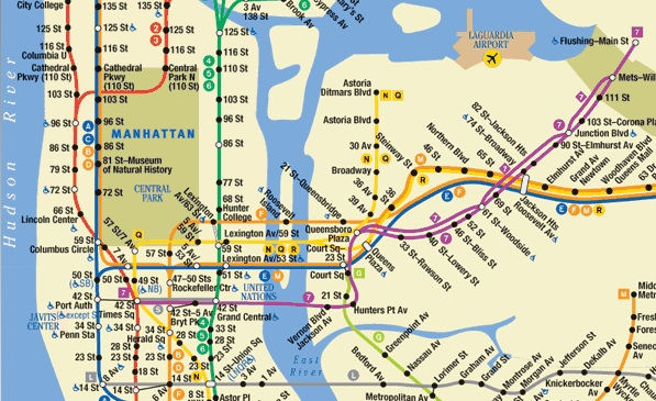 New York Subway Route Map
