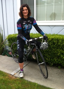 Riding with a Fast Crowd: An after-work ramble has me sporting a racing team kit and riding Black Beauty, my thoroughbred.