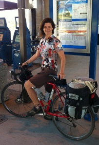 Weekend Getaway: Low-key bike duds on me and touring panniers on Liberty are perfect for a train + bike tour of our state capital.