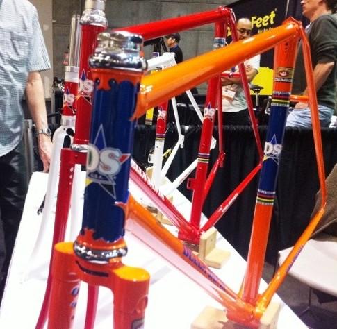 Della Santa has built classic steel bikes for 42 years, many years before Greg Lemond rode his bikes.