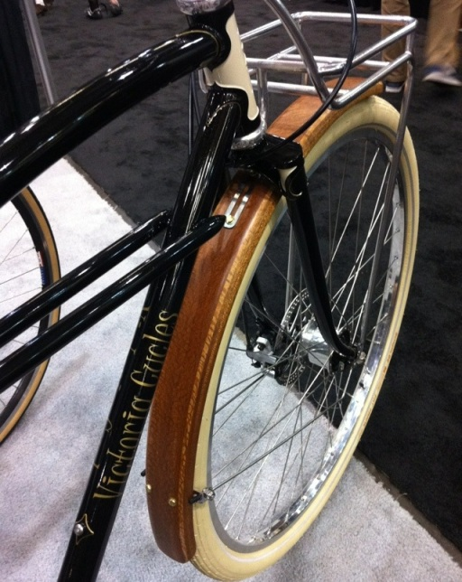 Victoria Cycles rolled out some slick wooden fenders.