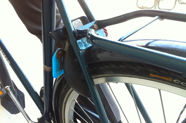 Wheel locks are perfect for securing the bike for quick stops.