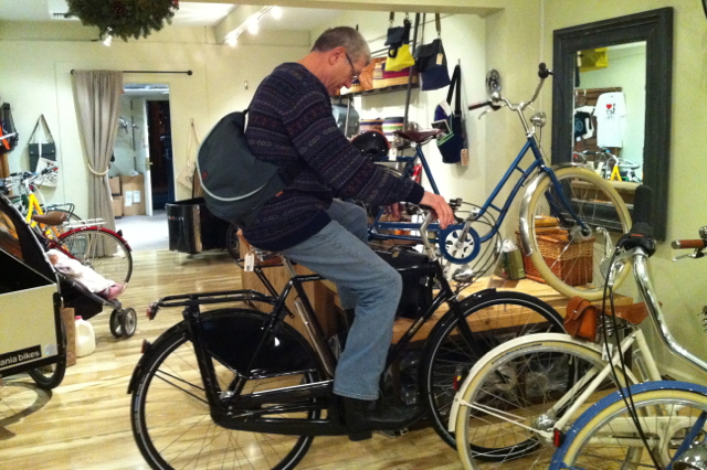 Last Christmas Eve, Dick saw the Pashley Roadster and had to go for a ride.