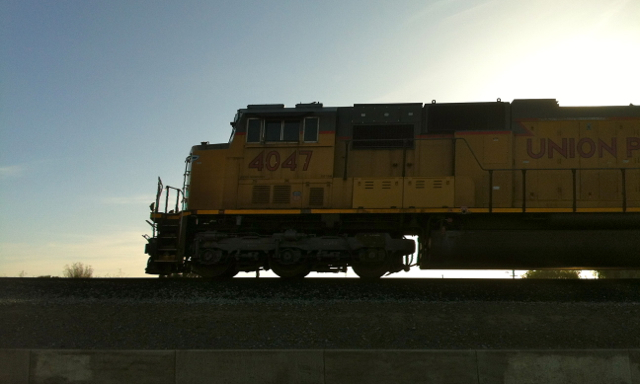 A rare freight train rolled through town just as we rolled up to Vahl's.