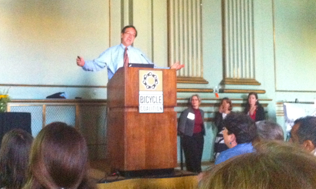 Gil Penalosa's talk was way more interesting than this photo. So fast paced I couldn't take notes.
