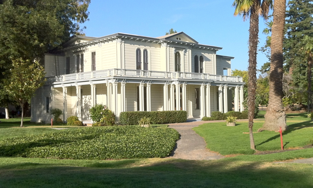 The mansion was impressive, especially for 1855 when few people lived in the area.