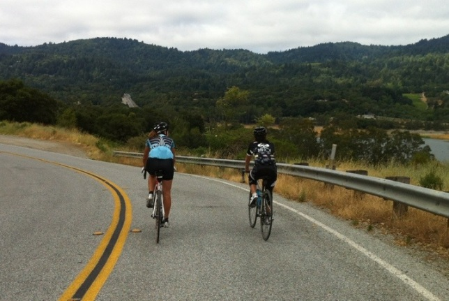 The ride starts and ends with a cruise around the Lexington Reservoir.