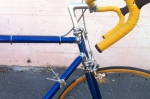 No braze-ons on this bike. The cable guides clamp onto the frame.