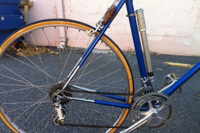The Campy Nuovo Record derailleur and chrome stays are gorgeous.