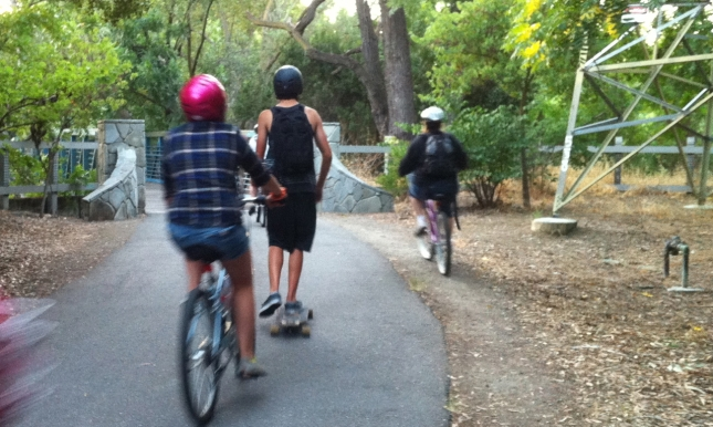 Kids on Bike Trail