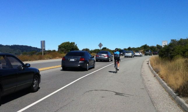 As usual, the road to the beach was bumper-to-bumper by 10 am.
