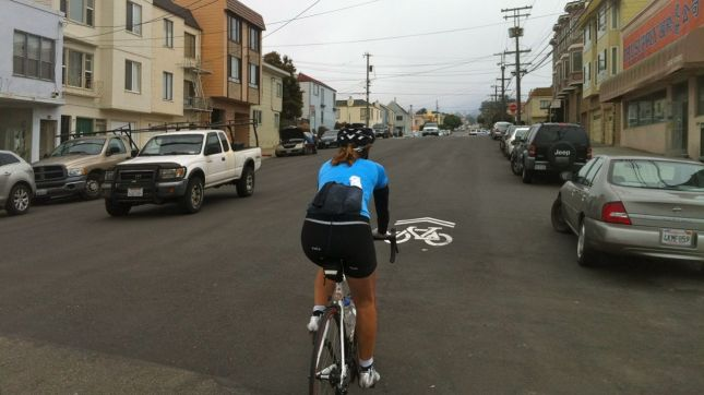 I was very grateful to ride on the quieter neighborhood streets.