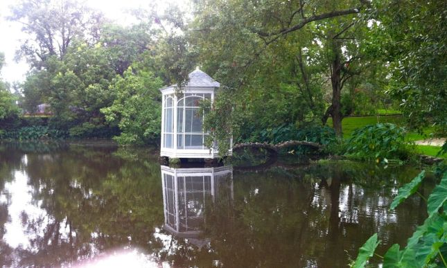 ...with its own gazebo on the lake.
