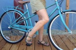 A hardcore roadie, Deb bought a mixte just for her 18 mile roundtrip commute.