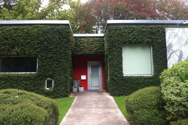 Baton Rouge has sharp contrasts, like this very modern home...