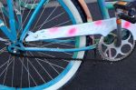 Look underneath the spray paint and you'll see it's a Schwinn.