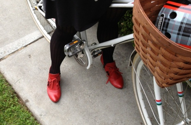 Red enough to stop traffic!  Don't wear these if you don't want attention.