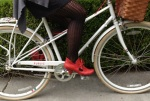 The 2.5 inch heels are super-comfy for both riding and walking.