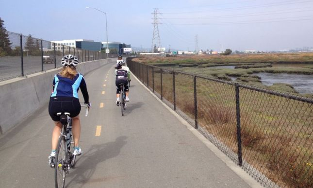Unlike most bike paths, this one was as well constructed as the adjacent freeway.