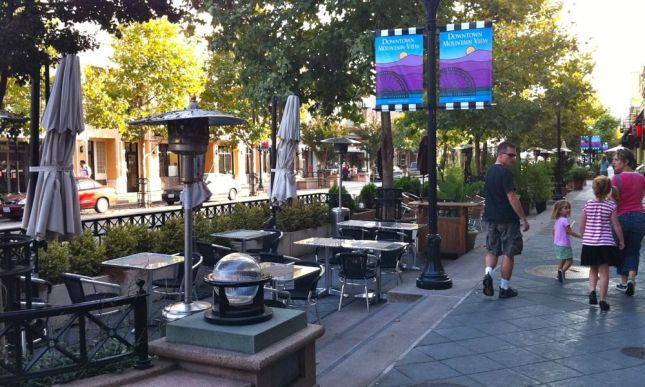 Over 20 years ago, my town redesigned its downtown to offer parklets on its main street.