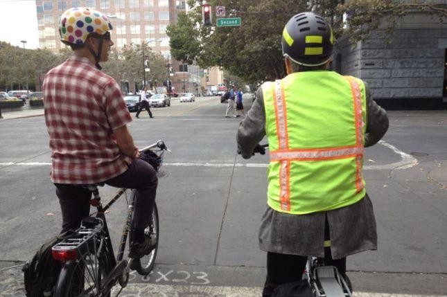 I rode behind Bike/Ped coordinator John Brazil and an SJSU urban planning professor.