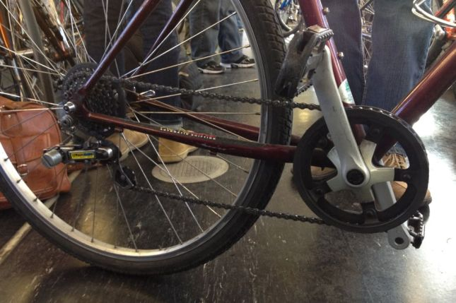 What's this odd little device labeled AutoBike? A derailleur?