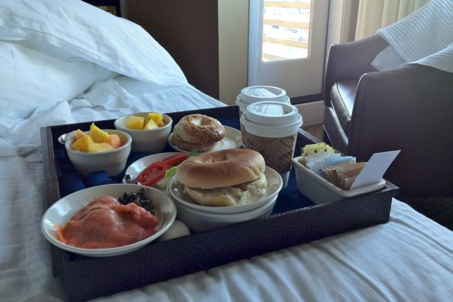 ...while we ate breakfast in bed. (yes, we're spoiled)