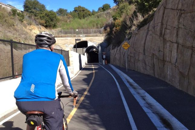 But soon found our way to the Cal Park Hill Tunnel...