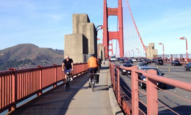 After lunch we changed into riding clothes and headed across the Golden Gate.