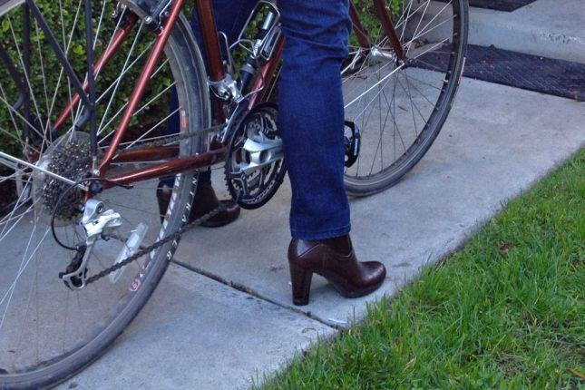 A simple chainring guard works well enough to keep the grease off my skinny jeans and booties.