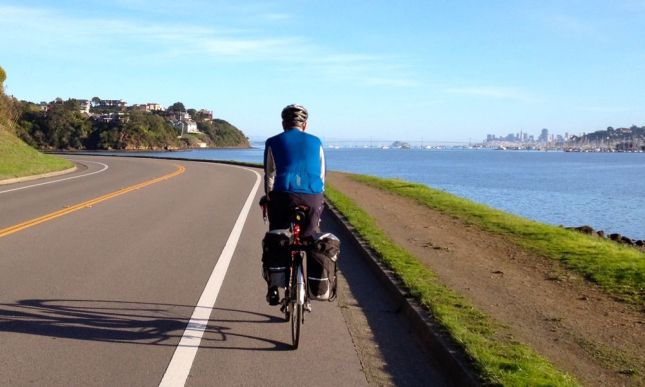 We hugged the coastline including this stretch I'd never ridden along the Strawberry peninsula.