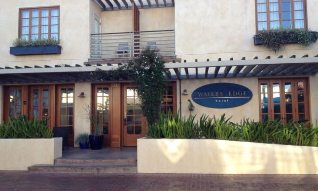 .. to our boutique hotel on the water's edge (no surprise there).
