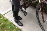 My touring bike has flat+SPD pedals so I can ride in cycling or regular shoes.