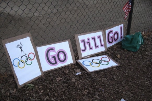 But we were 100% behind Jill Kintner representing the USA in the first women's BMX in the Olympics.