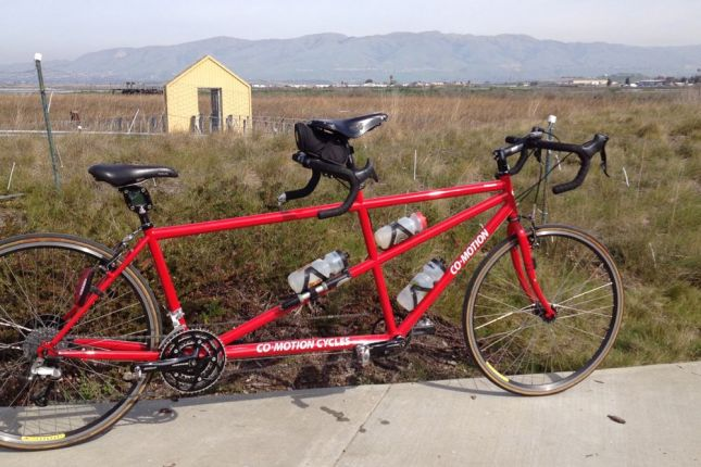 Going for a ride on our big red tandem seemed like a great way to celebrate Valentine's Day.