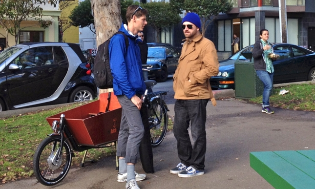 Robin Moore and Bike Snob doing the director and star thing.