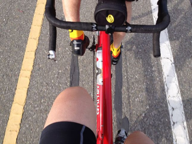 Riding the tandem together can be a lot of fun.