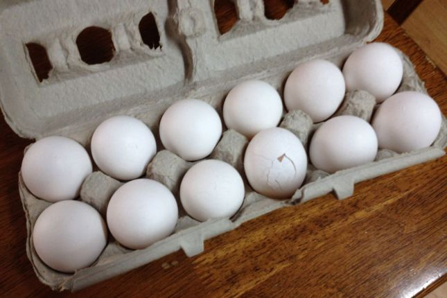 For the record, I broke the egg when I was putting the carton away, not in transit.