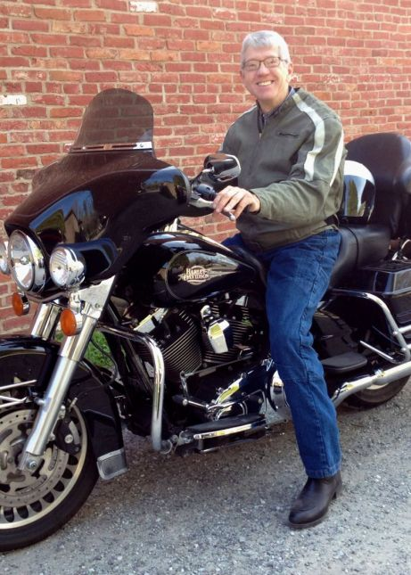 Dick on Harley