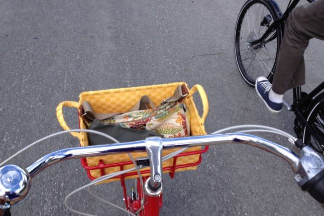 On Easter morning we rode across town through Palo Alto.