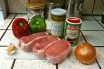 Ingredients: Peppers, onion, garlic, pork, Tony's Creole seasoning and salsa verde, the secret ingredient.
