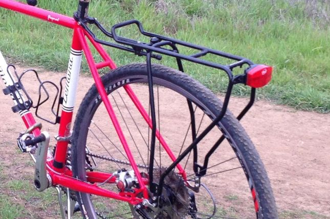 The super lightweight rack doesn't need eyelets for mounting.