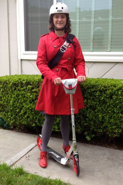 Red Coat Red Shoes Red Scooter 2