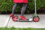 My little red shoes worked well enough on my little red scooter.