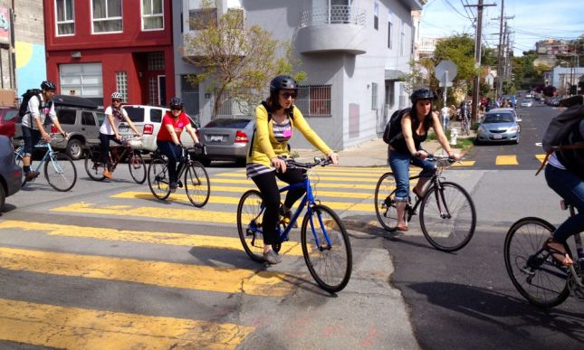 We rolled down toward our first stop in the Mission district.