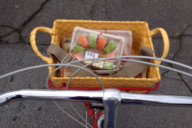 Whole Foods was open, though, so we picked up sushi for our picnic.