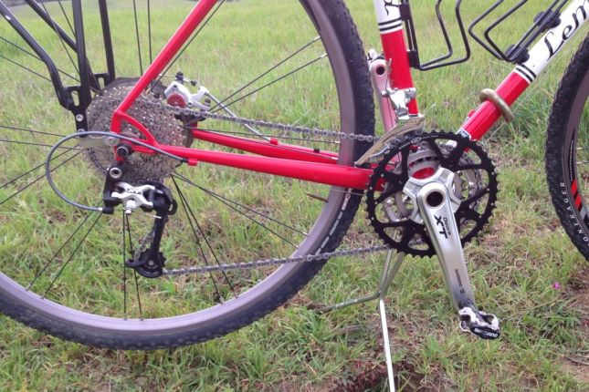 No racing gears here. It's all about low gears for long climbs: 46-36-26x12-36.